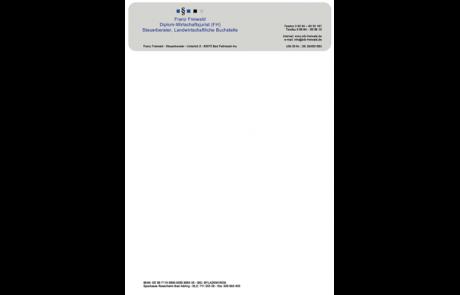 Briefpapier Steuerberater
