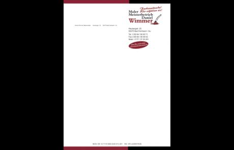 Briefpapier Malerbetrieb