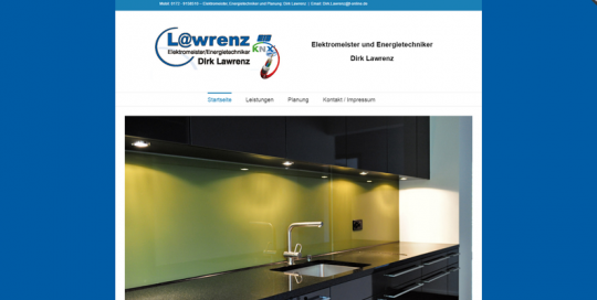 Website Elektro Lawrenz unter WordPress
