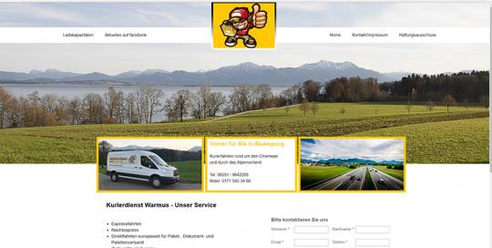 Kurierdienst Warmus - Webdesign und Programmierung