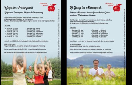 Flyer Yoga und QyGong Bad Feilnbach