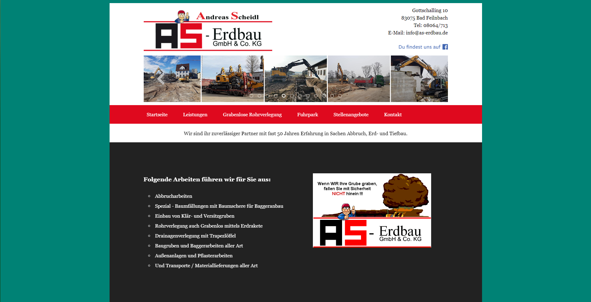 Website-Erstellung - AS-Erdbau in Bad Feilnbach